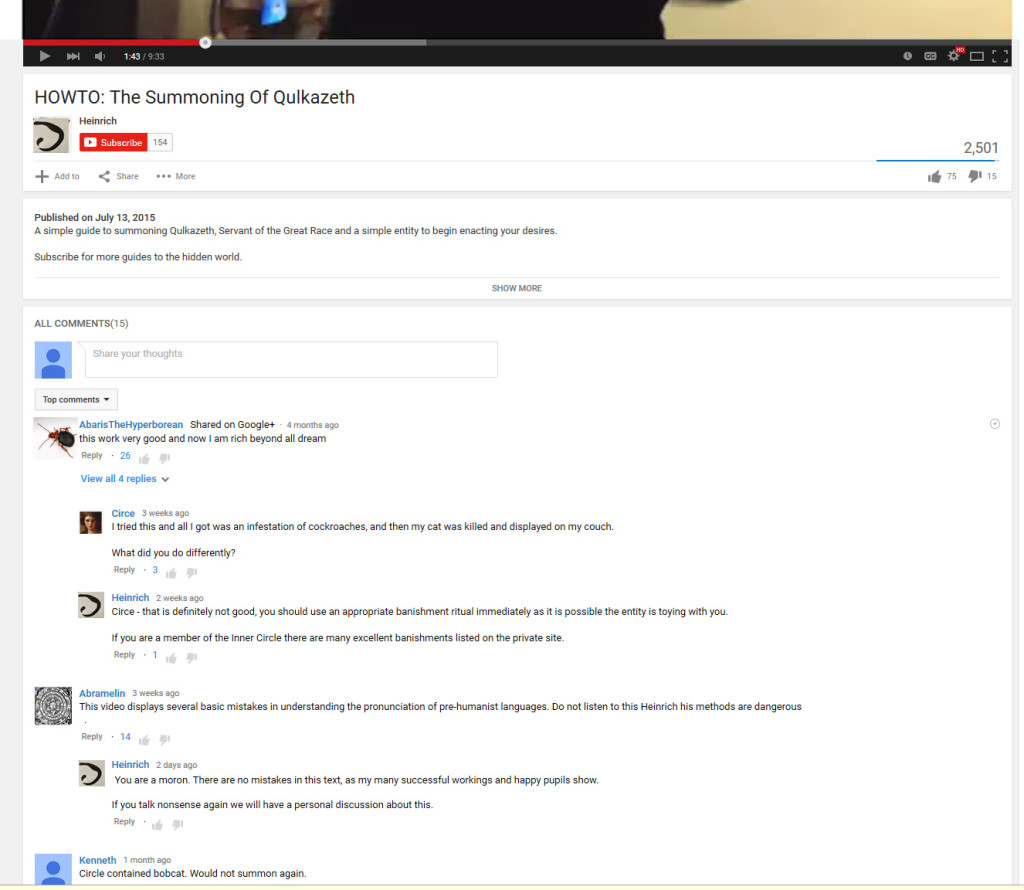 Heinrich's-Youtube-Comments