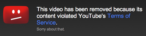 video taken down